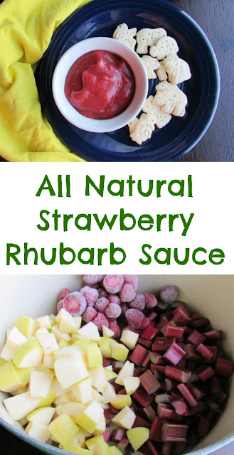 This Strawberry Rhubarb Sauce is sweetened with honey for a treat you can feel good about! The color is beautiful too!