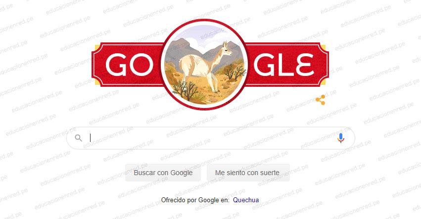 Google saluda a Perú por los 199 años de Independencia con vistoso doodle