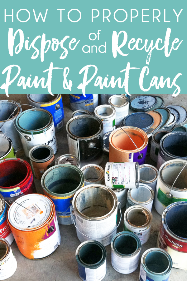 "Ever wonder how to dispose of paint and how to dispose of and recycle paint cans? Whether you have old latex paint, oil-based paint, or spray paint cans that you need to dispose of, get answers to common questions like ""can you throw away empty paint cans?"" and ""can you recycle paint?"""
