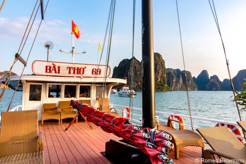 Hanoi Side-Trip to Ha Long Bay in 24 Hours Junk Boat Deck