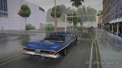 gta sa san mod gráficos hd realistas enb series chuva rain puddles