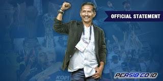 Djajang Nurdjaman Dipastikan Tetap Pelatih Persib Bandung