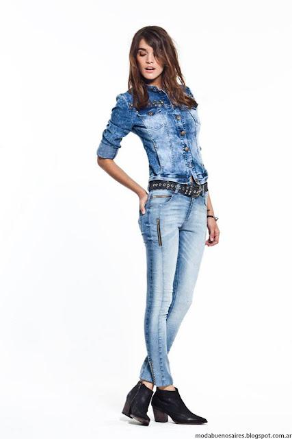 Camperas de jeans y camisas otoño invierno 2016 Vesna.