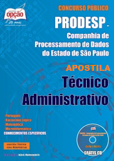 Apostila Concurso Prodesp Técnico Administrativo