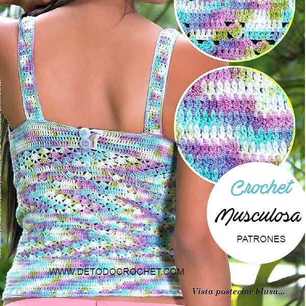 Musculosa para tejer a Crochet / Patrones | Todo crochet