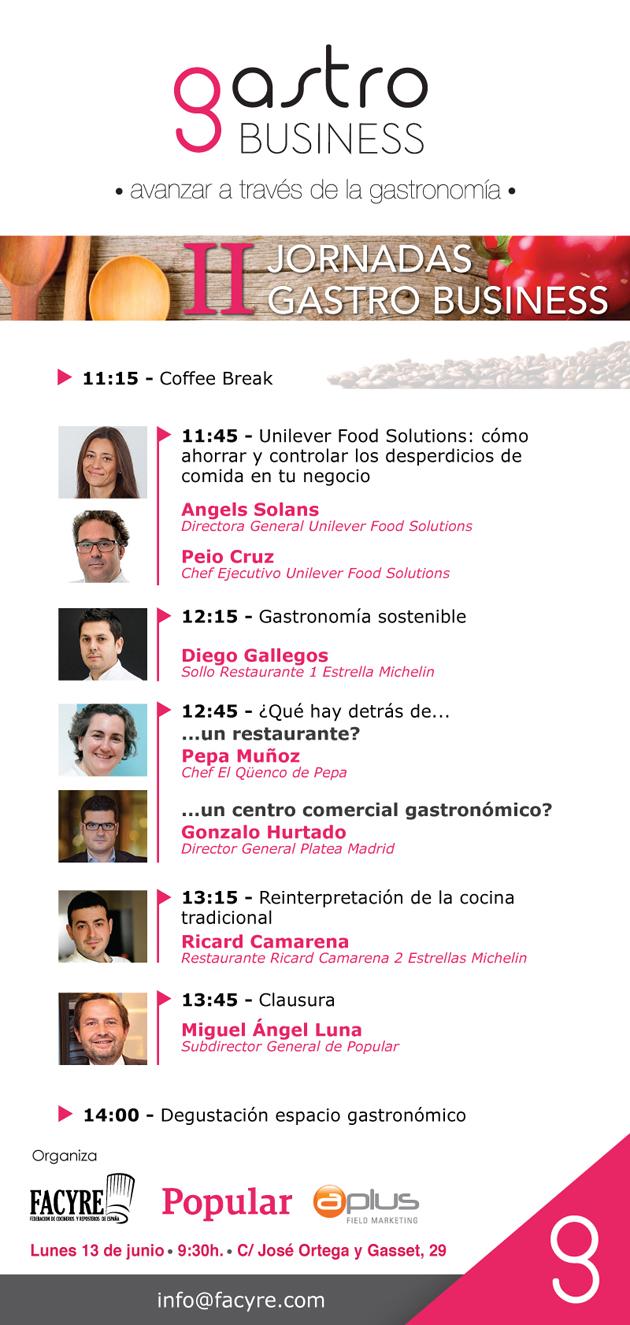 Programa Jornadas Gastro Business