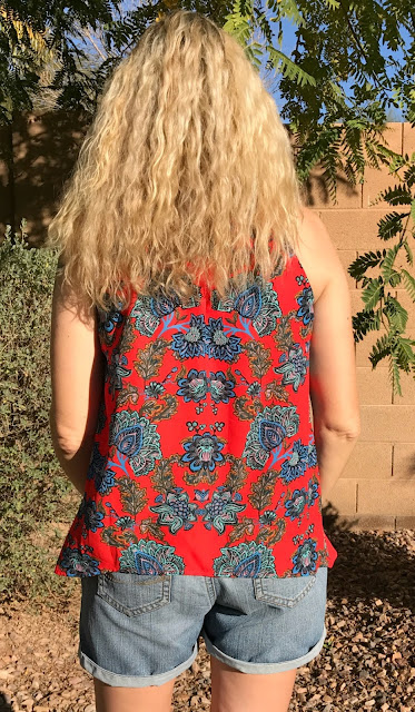 Stitch Fix #29 Review - January 2017 - Collective Concepts Krissa Keyhole Halter Blouse Back