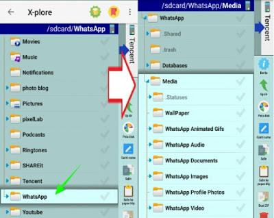 older Whatsapp di memory internal