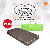 Dusdusan Alexa Kasur Lemper (Bed In A Bag) Brown ANDHIMIND