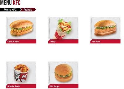 Harga Menu KFC Praktis