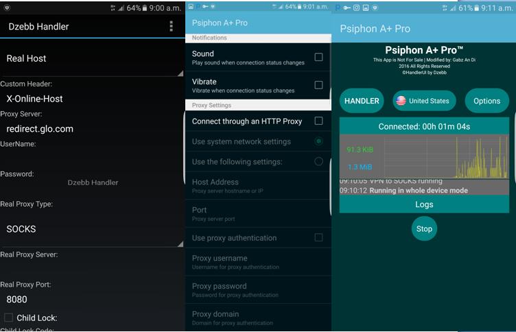 Latest glo 0 0kb free browsing trick blazing with psiphon a pro oscarmini - Free proxy server address and port ...