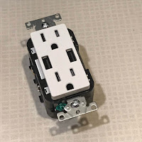 Duplex USB charger wall outlet out of the box