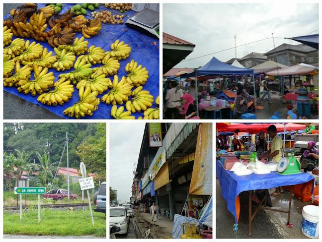 bananas and market