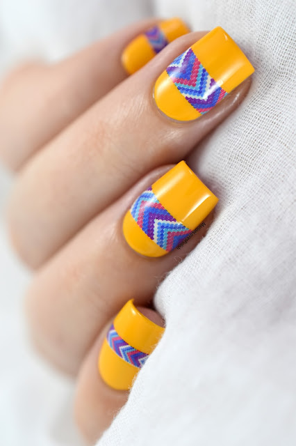 quick and easy aztec nail art