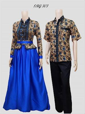 Model Gamis Batik Couple