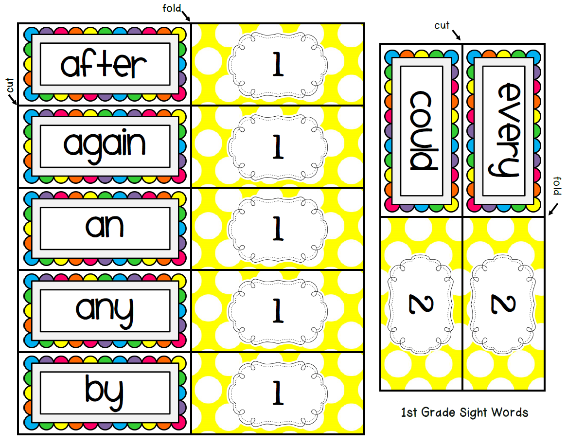 Read And Roll Sight Words