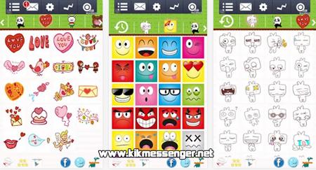 Comparte nuevos emoticones con Cute Emoticonos Kik