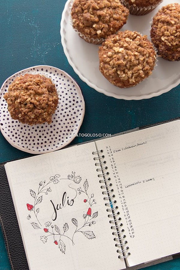 Estos son los mejores muffins de bana y avena que he probado hasta ahora, receta original de king arthur flour via elgatogoloso.com