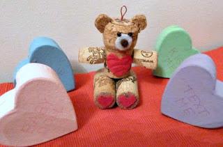Wine cork Valentine bear