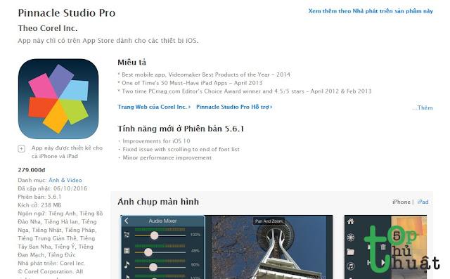 Phần mềm chỉnh sửa Video Pinnacle Studio Pro
