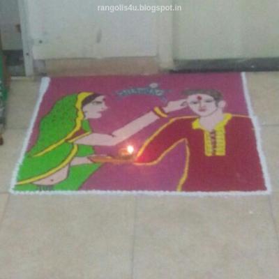 Creative Rakhi Rangolis