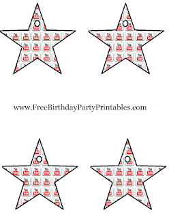 Printable Youtube Star Decorations