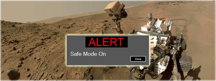 rover curiosity deu pau - problema no envio de dados