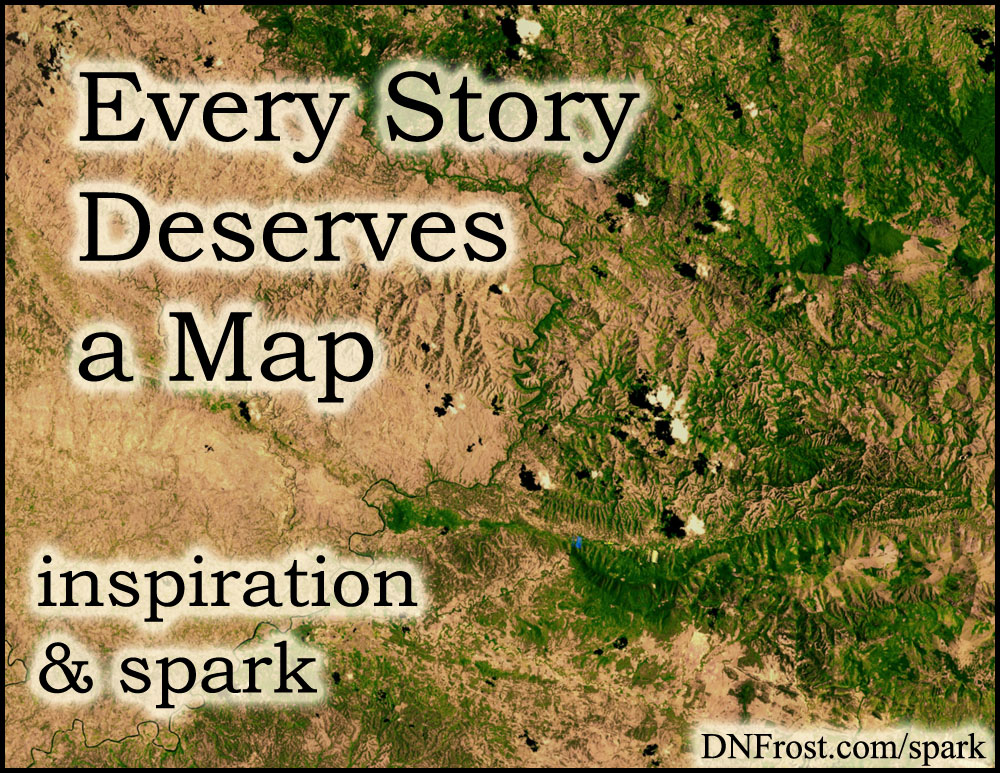Every Story Deserves a Map: writing made easier http://www.dnfrost.com/2016/09/every-story-deserves-map-inspiration.html #TotKW Inspiration and spark by D.N.Frost @DNFrost13 Part 2 of a series.