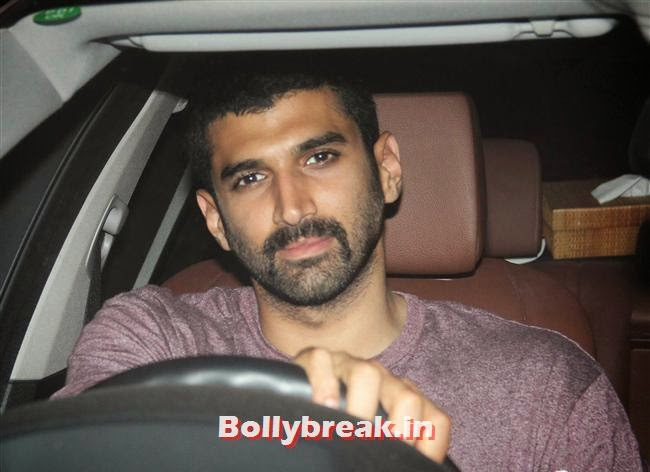 Aditya Roy Kapoor, Bollywood celebs Clicked in their Cars at 2 States Special Screening