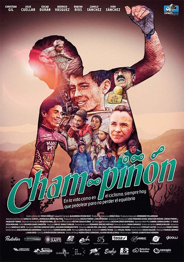 """Ilustración de póster para el corto """"Cham-piñón"""" de Cinemazul por Hache Holguín"""