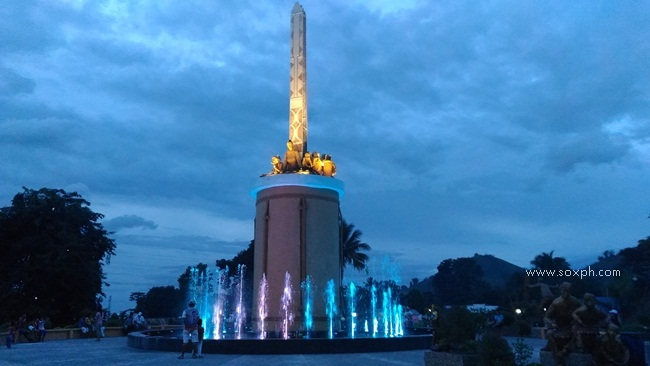 Colorful musical fountain show at Tboli Knoon Monument