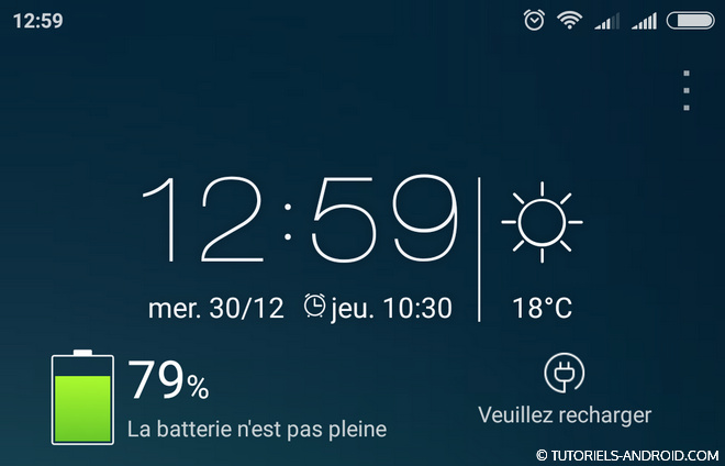 Déchargement normale d'une batterie Android