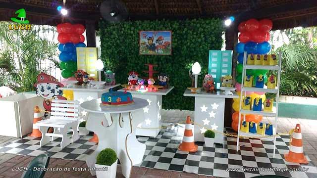 Decoração Patrulha Canina para festa de aniversário infantil