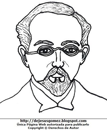 Dibujo de Carlos A. Carrillo para colorear pintar imprimir por Jesus Gómez