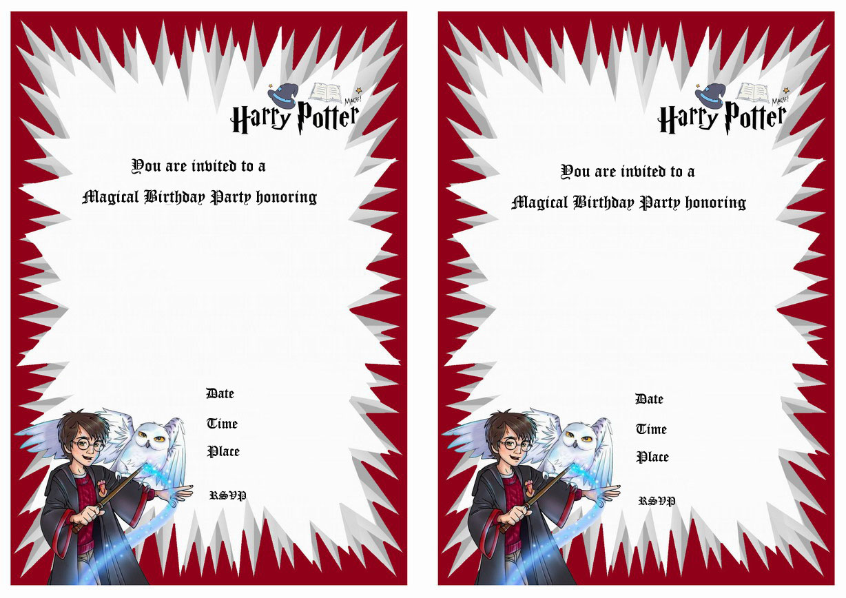 Revered image for free printable harry potter invitations