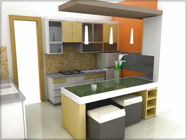 Dapur  Rumah Minimalis  Menyatu dengan Ruang Keluarga yang