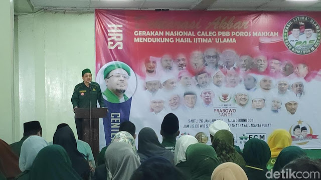 Patuhi Habib Rizieq, Caleg PBB Poros Makkah Dukung Prabowo-Sandi