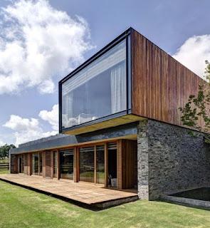 rumah minimalis batu industrial