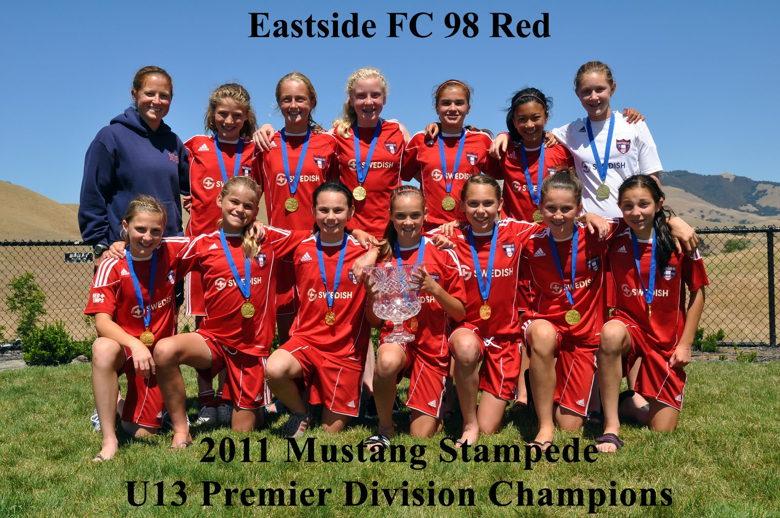 Eastside Fc News Girls 98 Red Team Wins Mustang Stampede