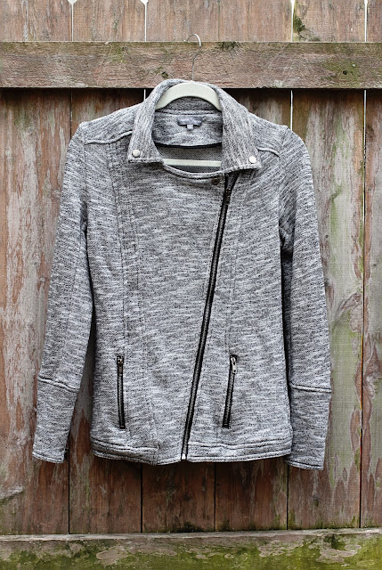 stitch fix Market & Spruce Elissa French Terry Moto Jacket gray