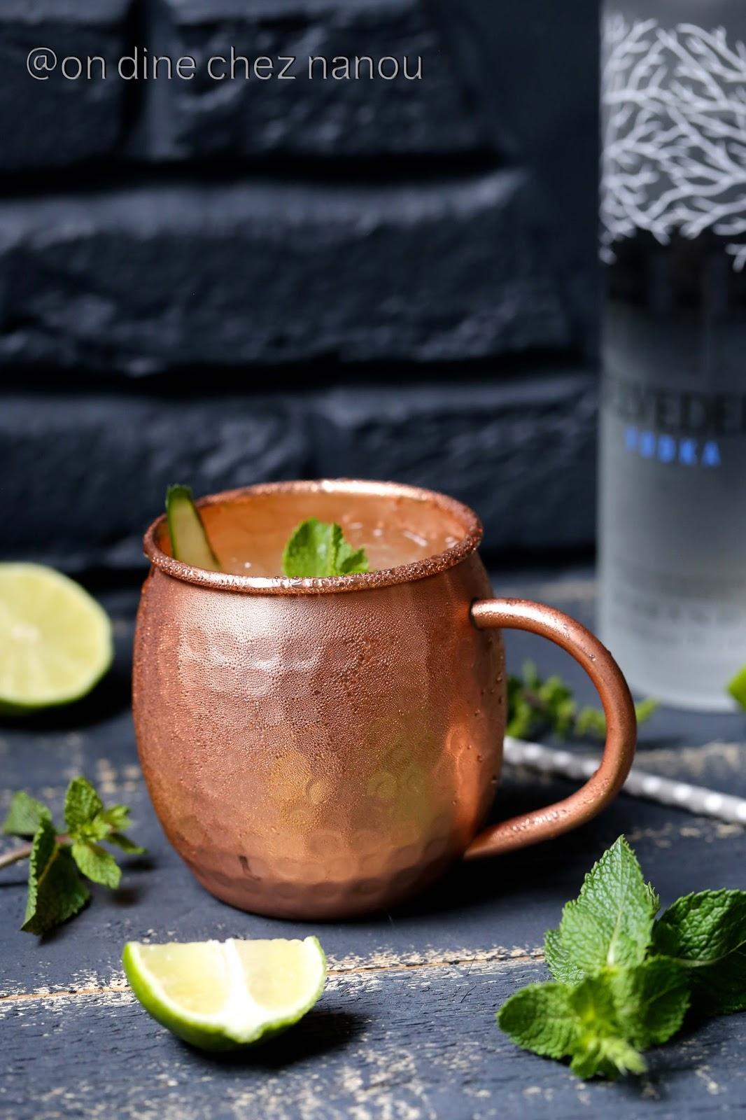 Vodka Belvedere , Cocktail frais facile , Moscow mule , gingembre