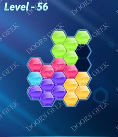 Block! Hexa Puzzle [6 Mania] Level 56 Solution, Cheats, Walkthrough for android, iphone, ipad, ipod