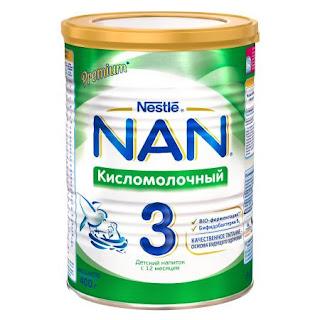 Sữa NAN chua số 3 hộp 400 gr từ 12 tháng tuổi