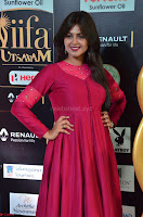 Monal Gajjar in Maroon Gown Stunning Cute Beauty at IIFA Utsavam Awards 2017 015.JPG