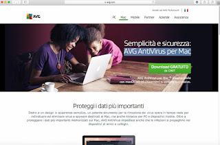 Programma AVG AntiVirus per Mac