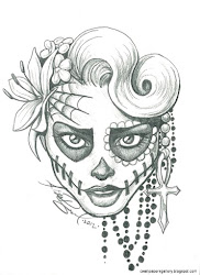 pencil easy drawings hipster drawing draw cool things simple sketches face sketch tattoo skull coloring pages amazing wall really dead