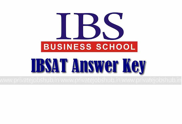 IBSAT Answer Key