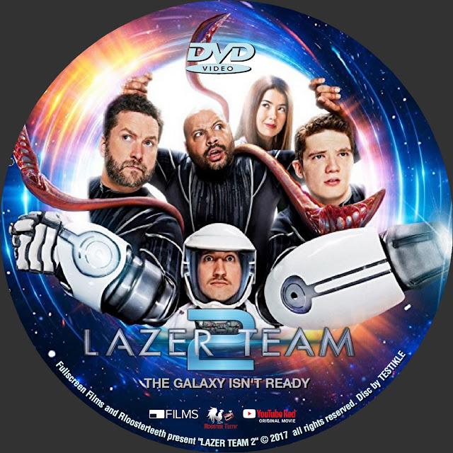 Lazer Team 2 DVD Label