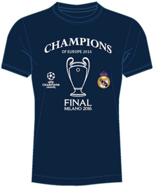 camiseta ganadores Champions 2016 Real Madrid
