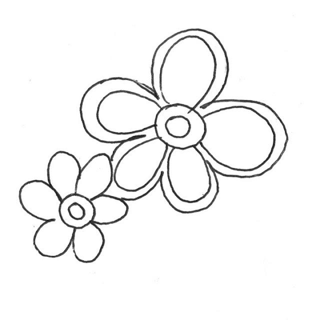 coloriage deux fleurs simples
